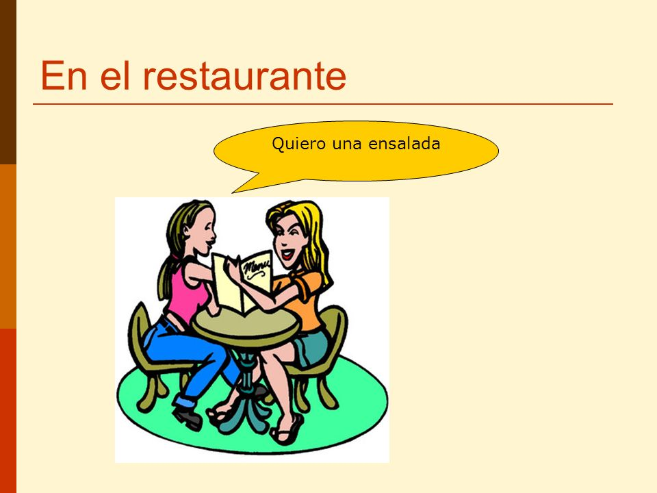 En el restaurante Quiero una ensalada
