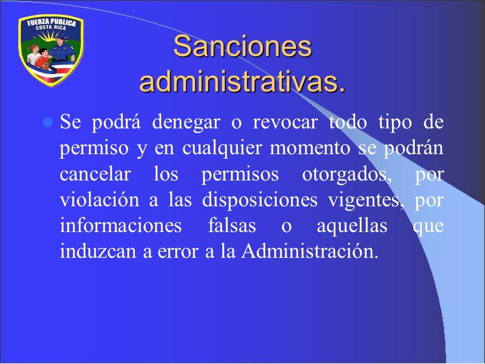 Sanciones administrativas.