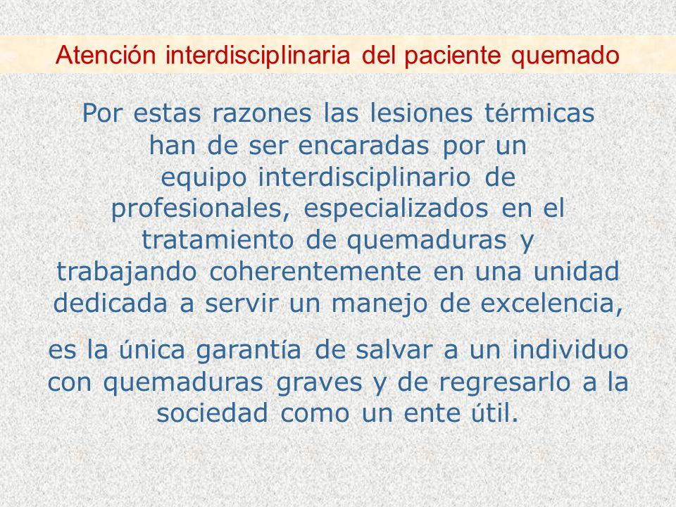 Atención interdisciplinaria del paciente quemado