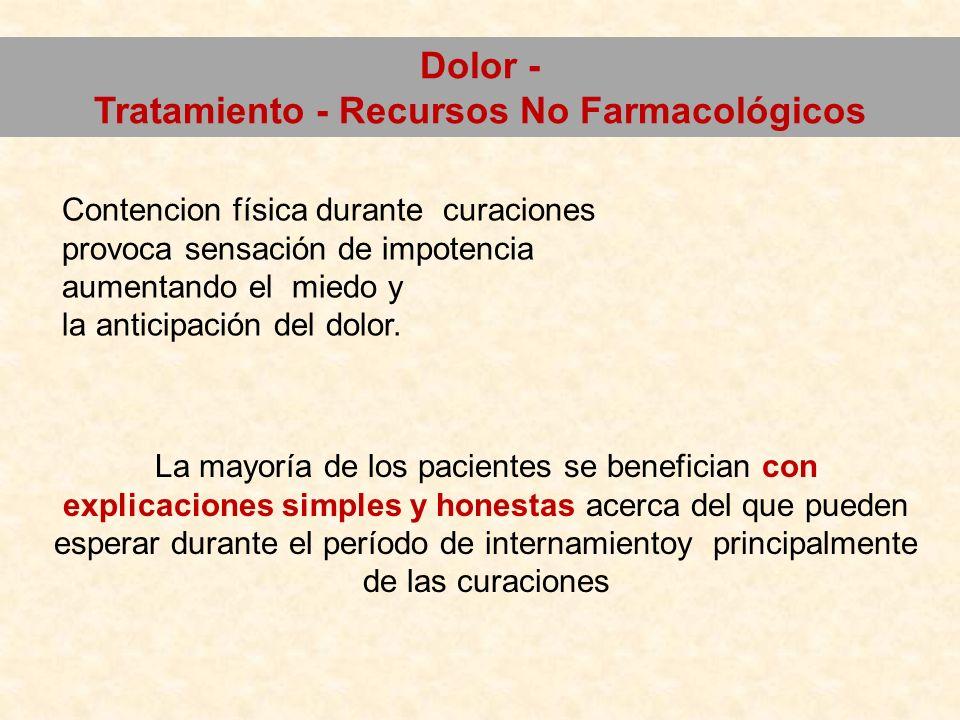 Tratamiento - Recursos No Farmacológicos