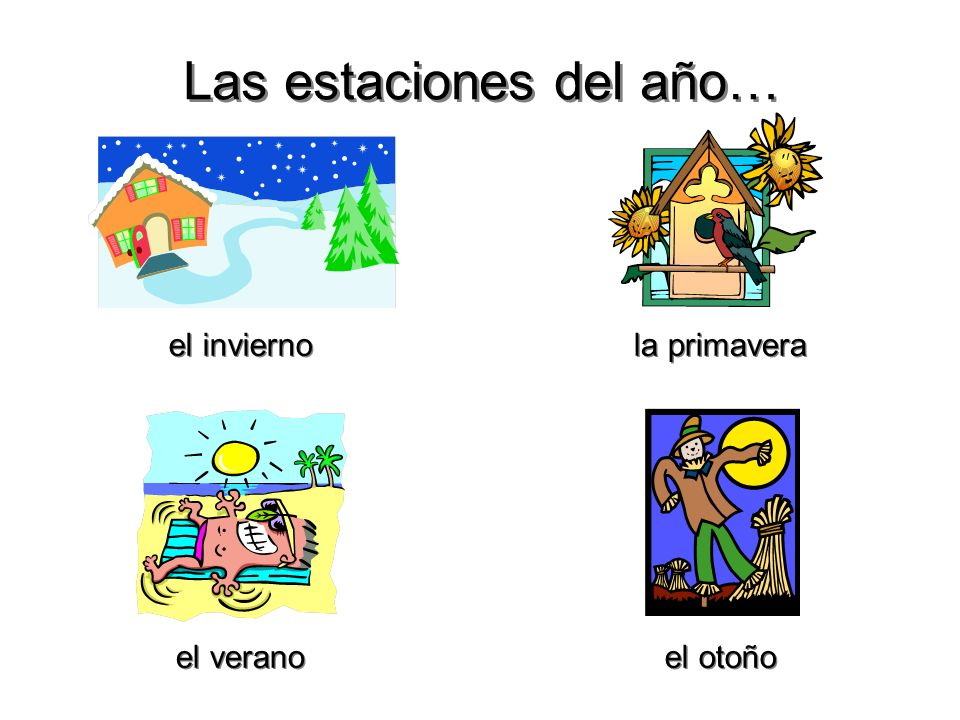 Las estaciones del año…