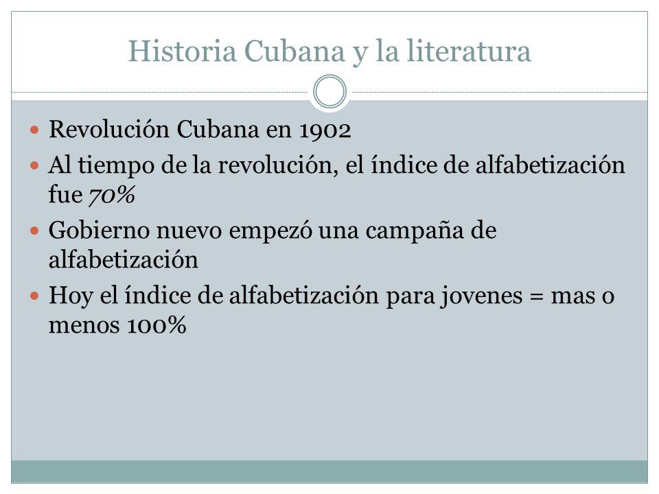Historia Cubana y la literatura