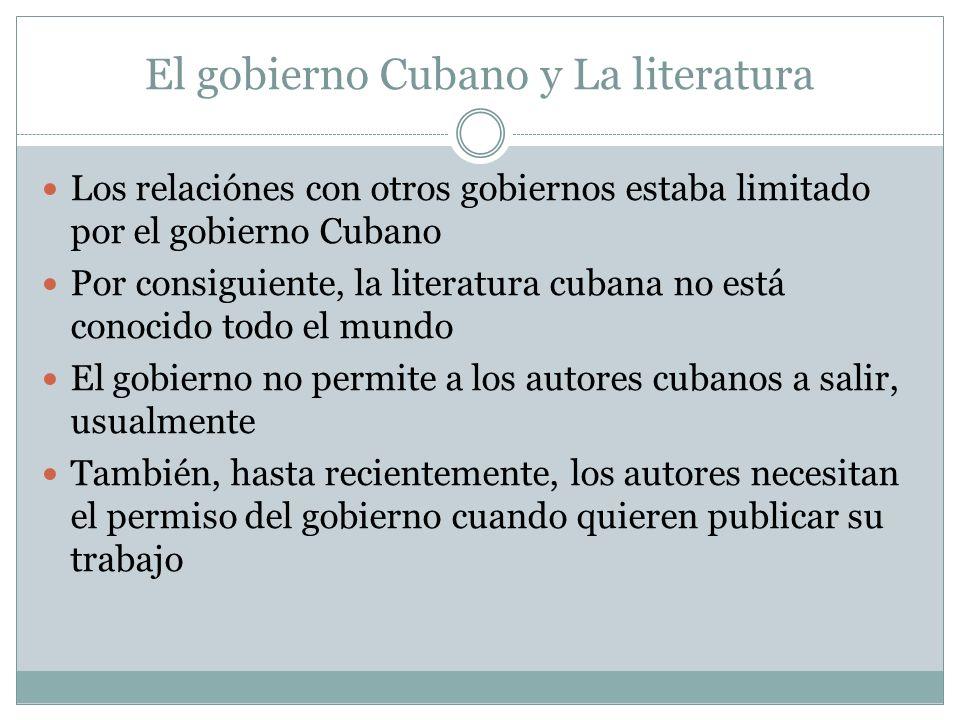 El gobierno Cubano y La literatura