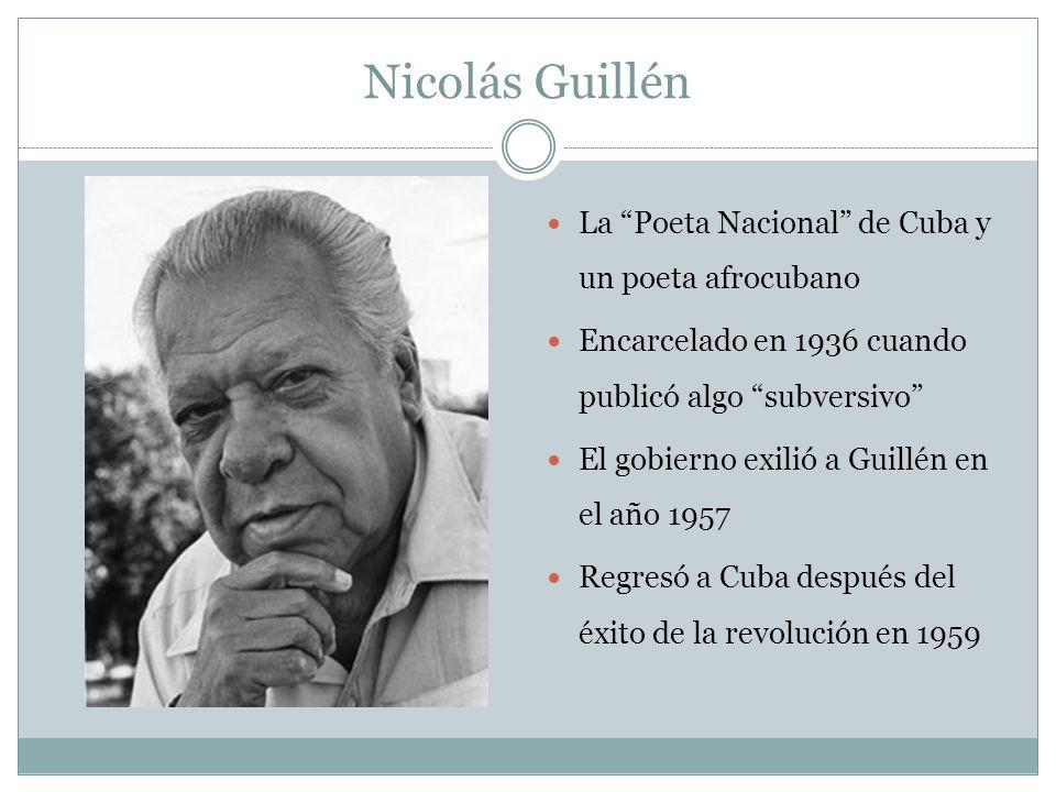 Nicolás Guillén La Poeta Nacional de Cuba y un poeta afrocubano