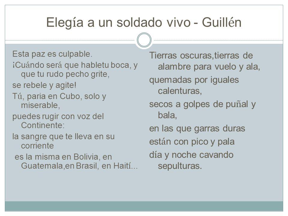 Elegía a un soldado vivo - Guillén