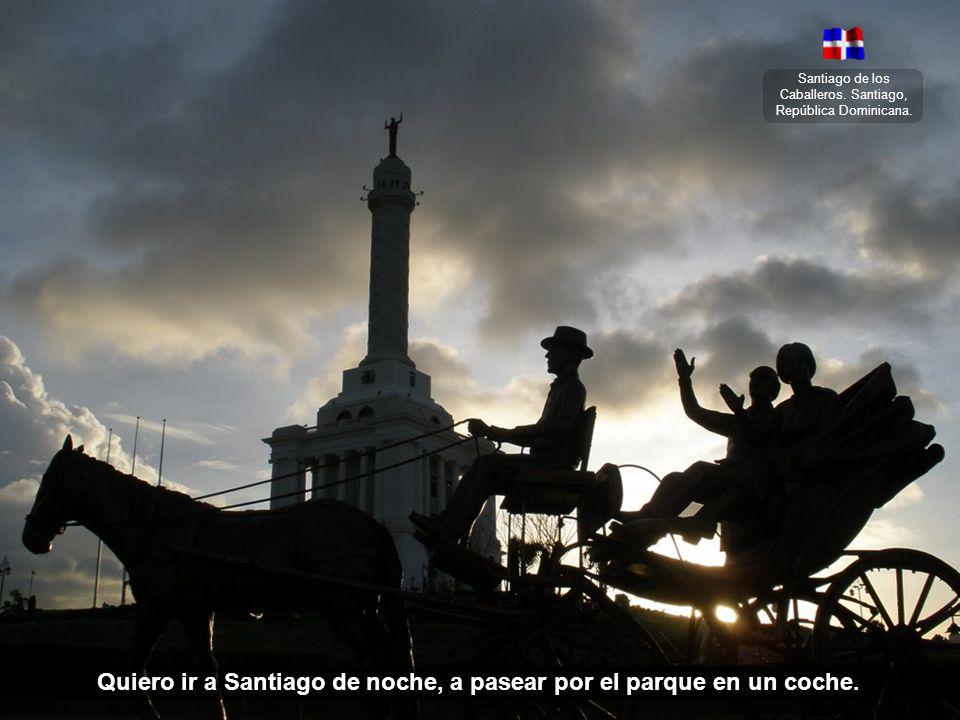 Quiero ir a Santiago de noche, a pasear por el parque en un coche.