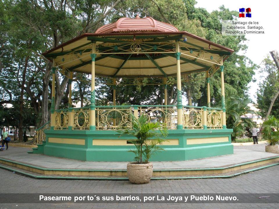 Pasearme por to´s sus barrios, por La Joya y Pueblo Nuevo.