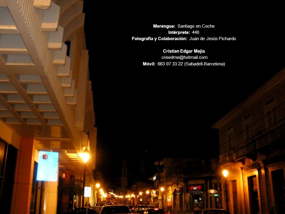 Merengue: Santiago en Coche Intérprete: 440
