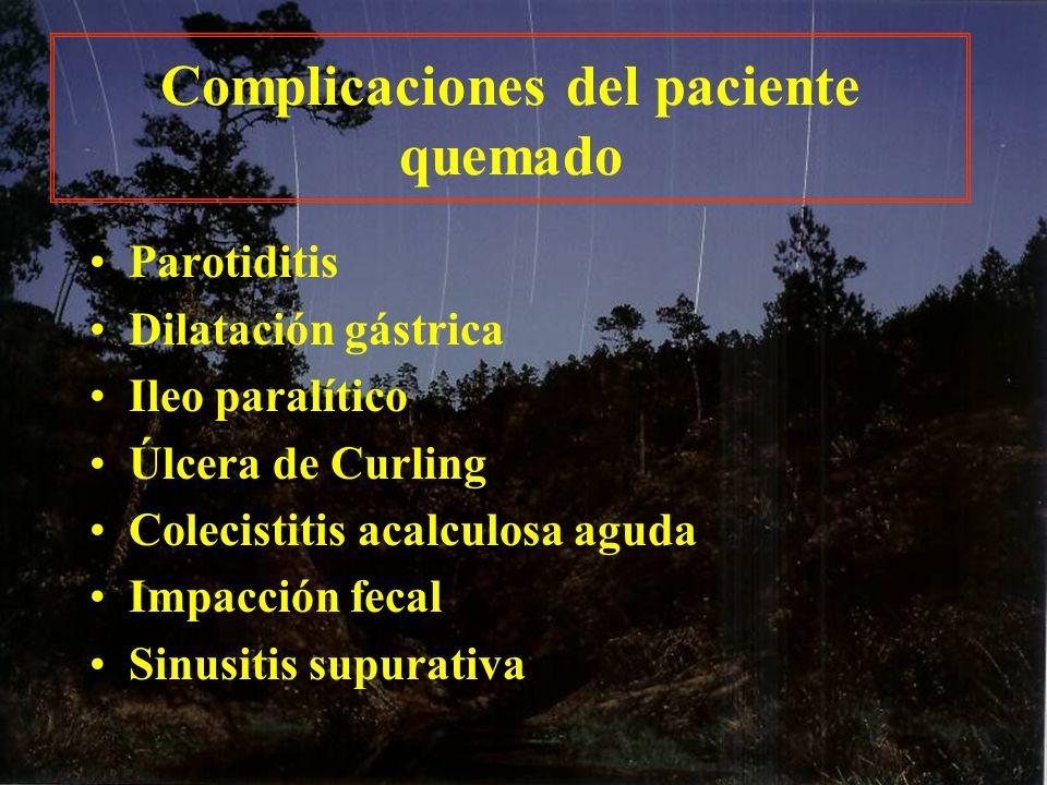 Complicaciones del paciente quemado