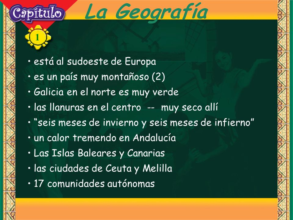 La Geografía está al sudoeste de Europa es un país muy montañoso (2)