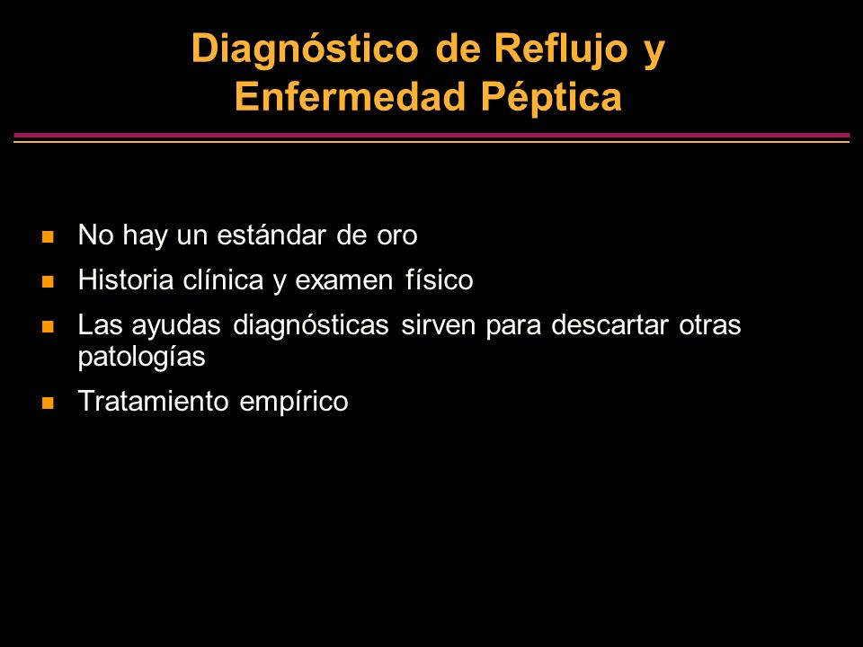 Diagnóstico de Reflujo y Enfermedad Péptica