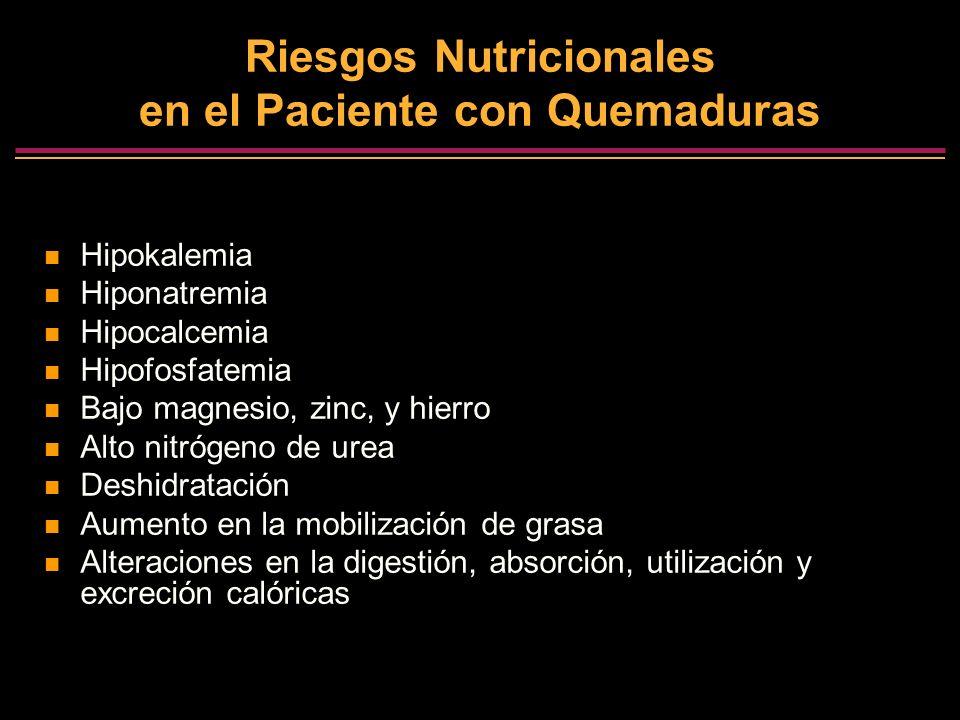 Riesgos Nutricionales en el Paciente con Quemaduras