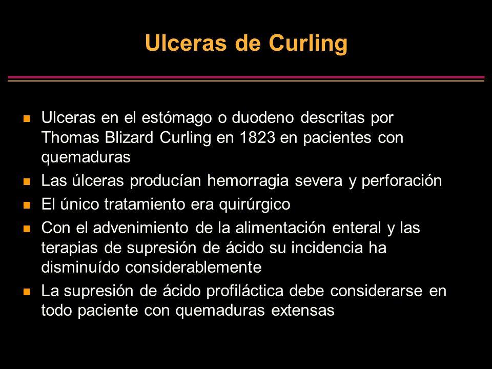 Ulceras de CurlingUlceras en el estómago o duodeno descritas por Thomas Blizard Curling en 1823 en pacientes con quemaduras.