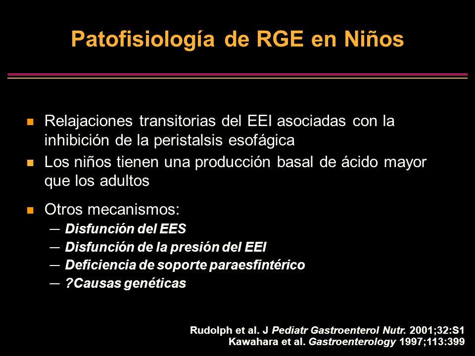 Patofisiologίa de RGE en Niños