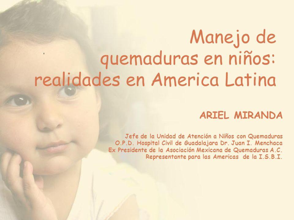 Manejo de quemaduras en niños: realidades en America Latina