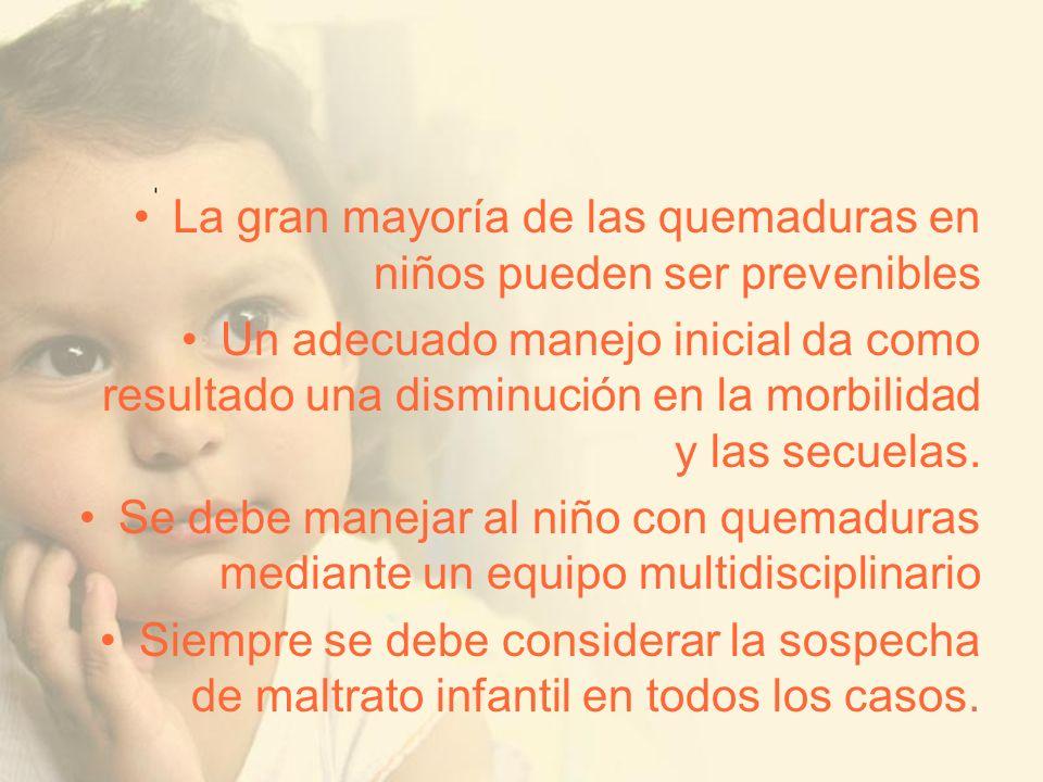 La gran mayoría de las quemaduras en niños pueden ser prevenibles