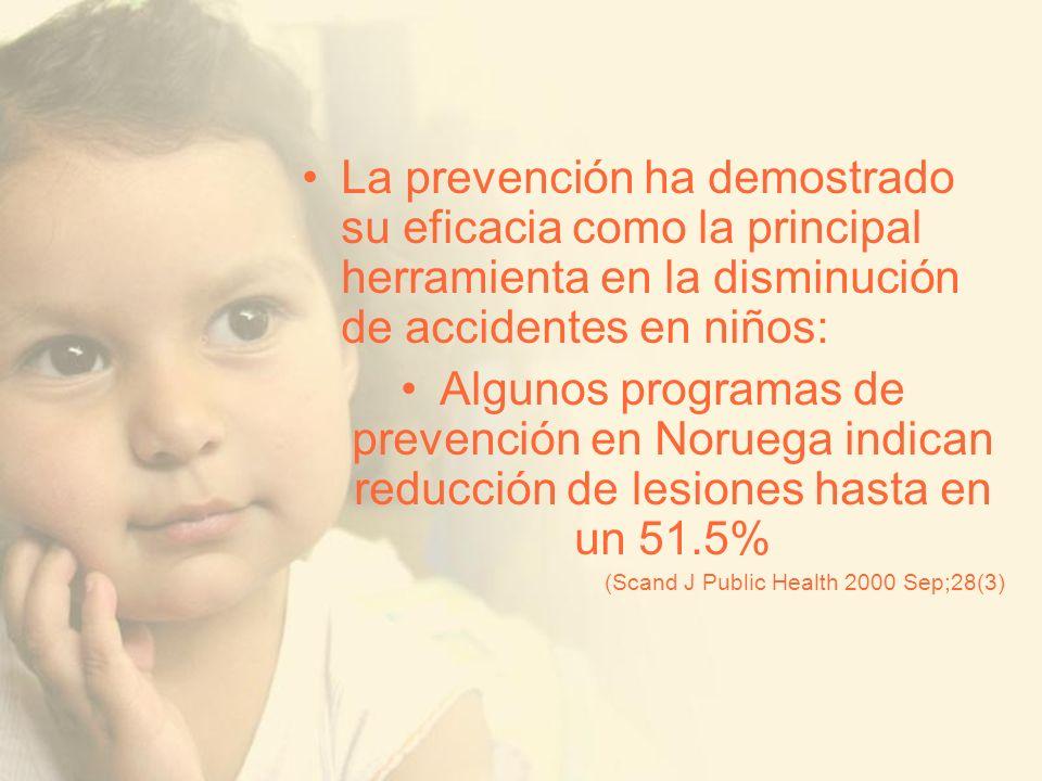 La prevención ha demostrado su eficacia como la principal herramienta en la disminución de accidentes en niños: