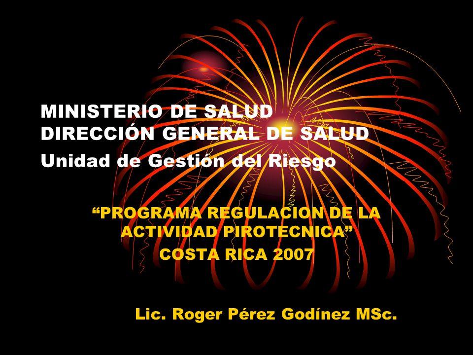 PROGRAMA REGULACION DE LA ACTIVIDAD PIROTECNICA