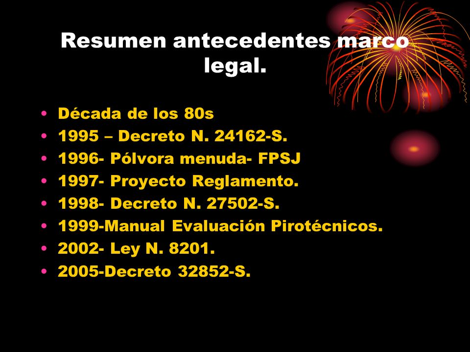 Resumen antecedentes marco legal.