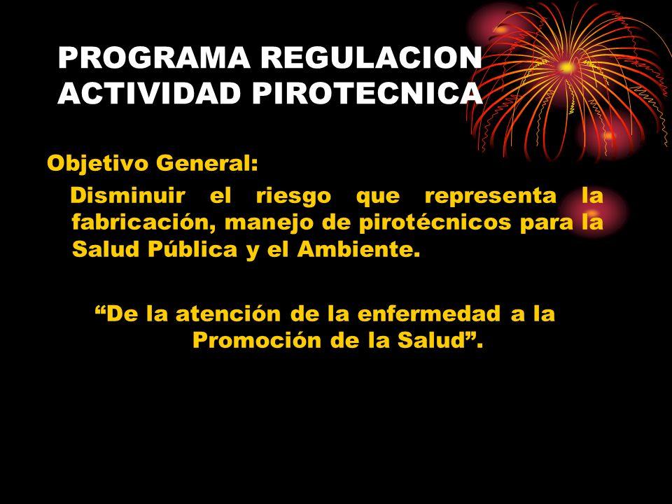 PROGRAMA REGULACION ACTIVIDAD PIROTECNICA
