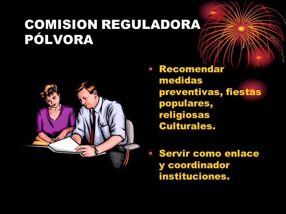 COMISION REGULADORA PÓLVORA