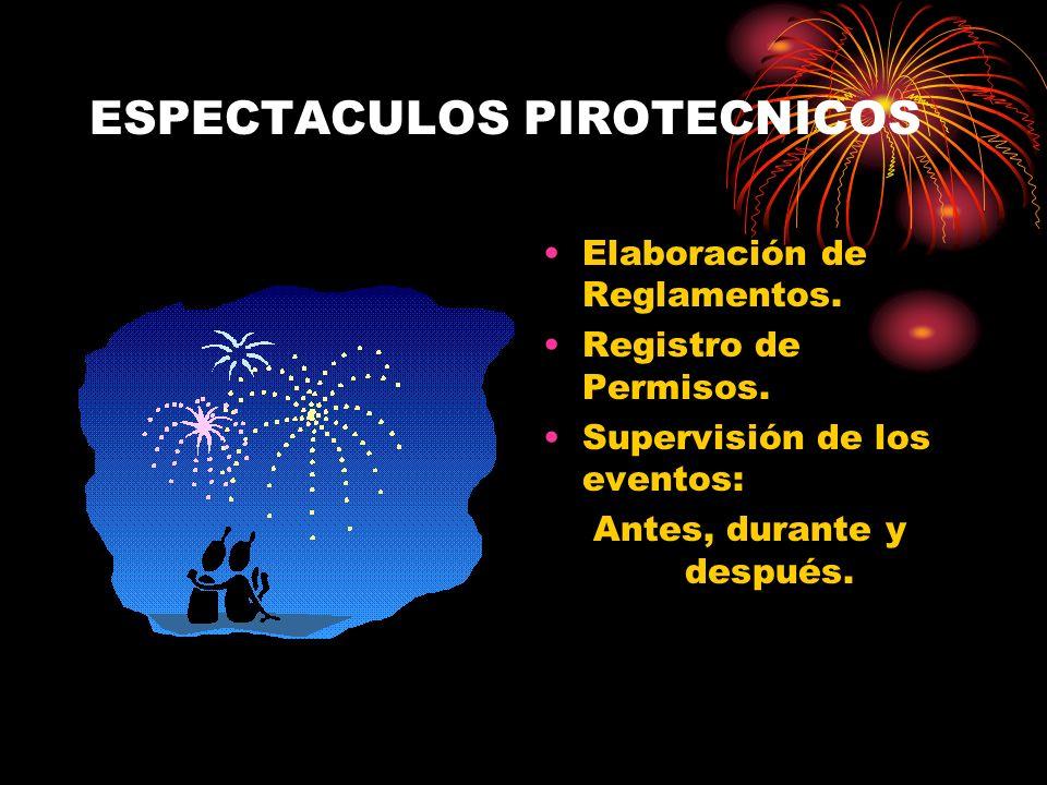 ESPECTACULOS PIROTECNICOS