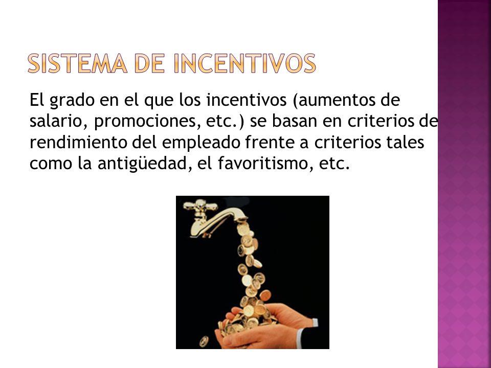 Sistema de incentivos