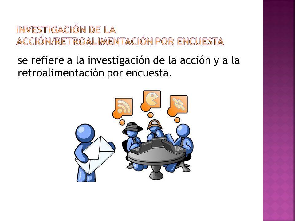 Investigación de la acción/Retroalimentación por encuesta