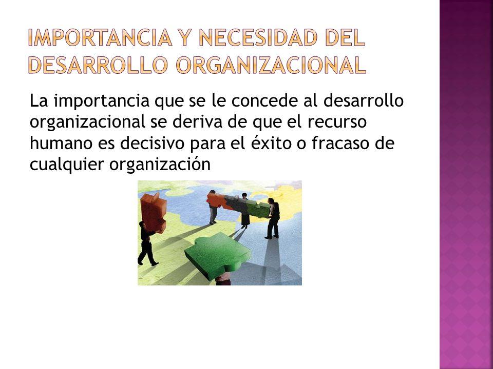 Importancia y necesidad del desarrollo organizacional