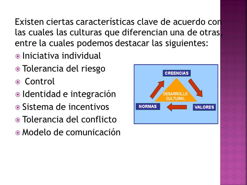 Existen ciertas características clave de acuerdo con las cuales las culturas que diferencian una de otras, entre la cuales podemos destacar las siguientes: