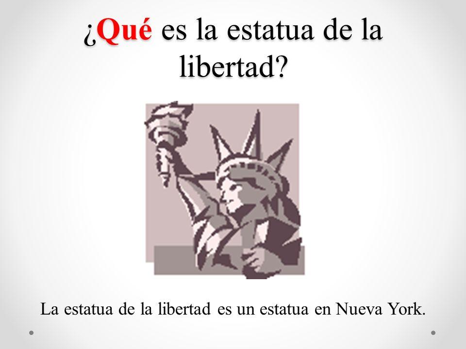 ¿Qué es la estatua de la libertad