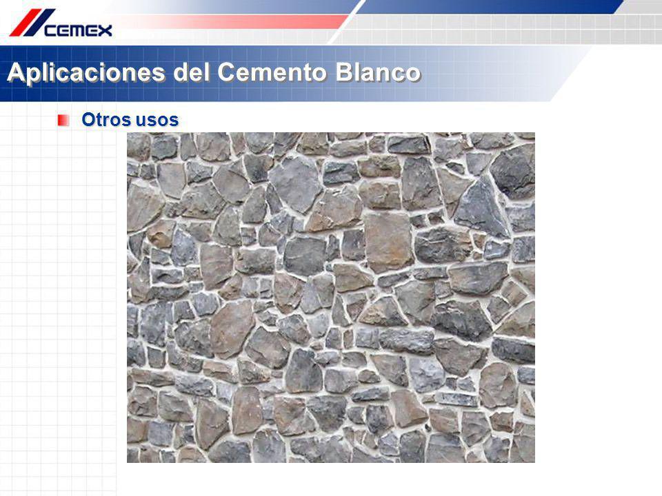 Aplicaciones del Cemento Blanco