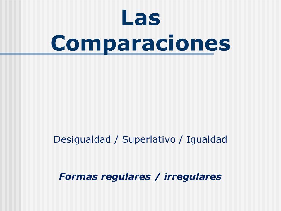 Formas regulares / irregulares