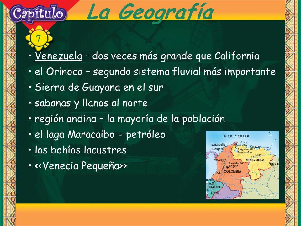 La Geografía Venezuela – dos veces más grande que California