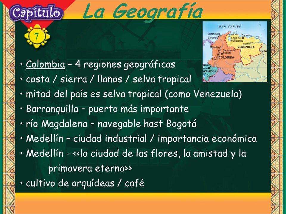 La Geografía Colombia – 4 regiones geográficas