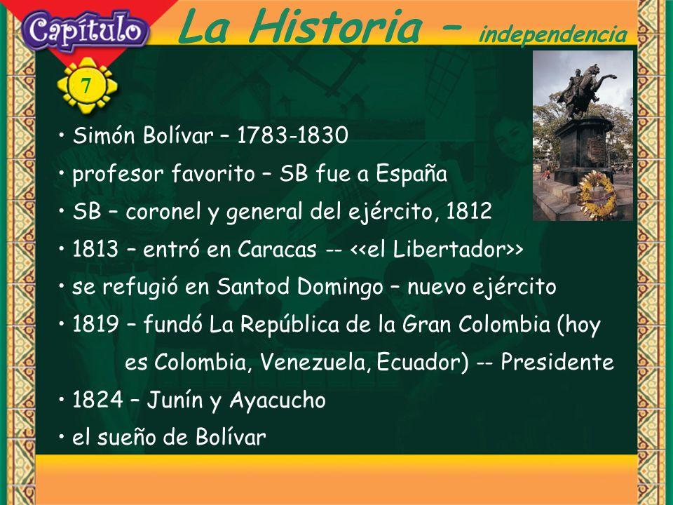 La Historia – independencia