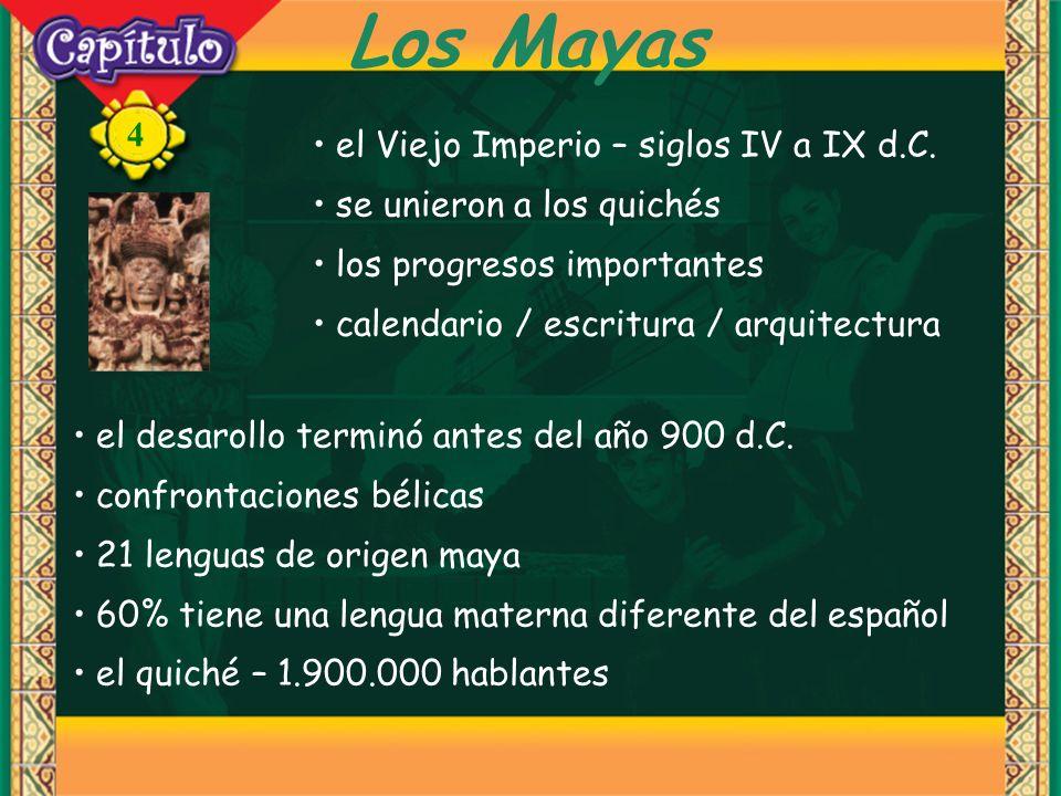 Los Mayas el Viejo Imperio – siglos IV a IX d.C.