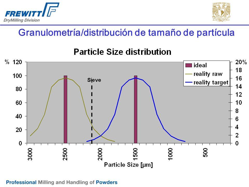 Granulometría/distribución de tamaño de partícula