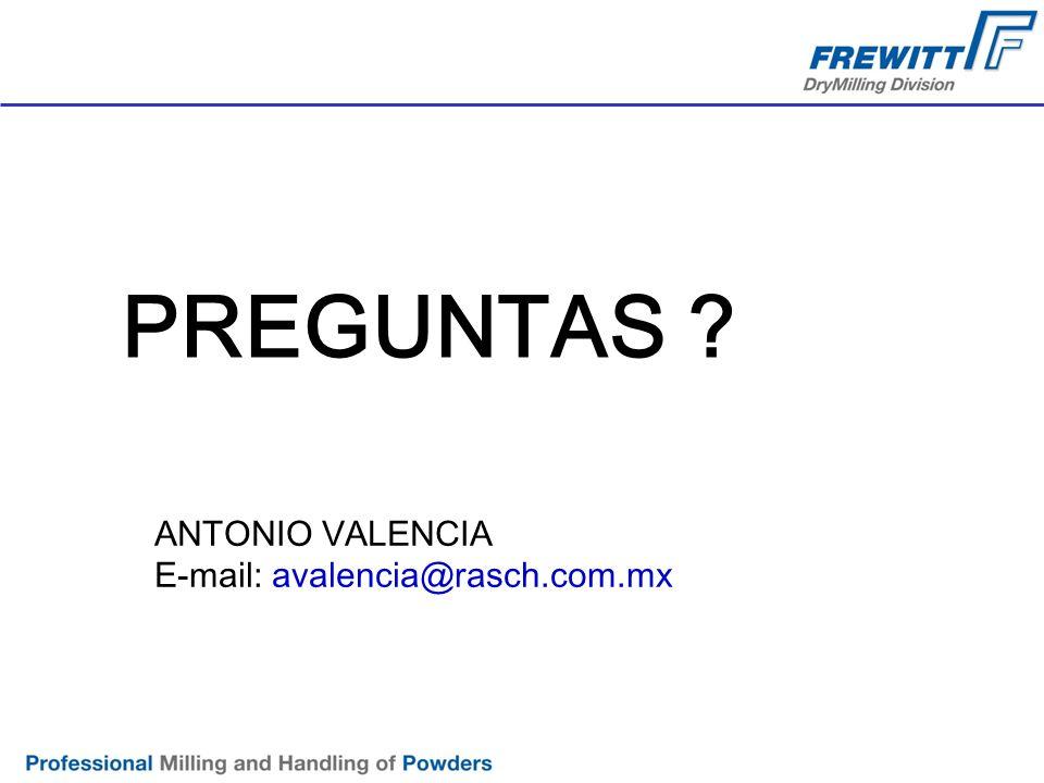PREGUNTAS ANTONIO VALENCIA E-mail: avalencia@rasch.com.mx
