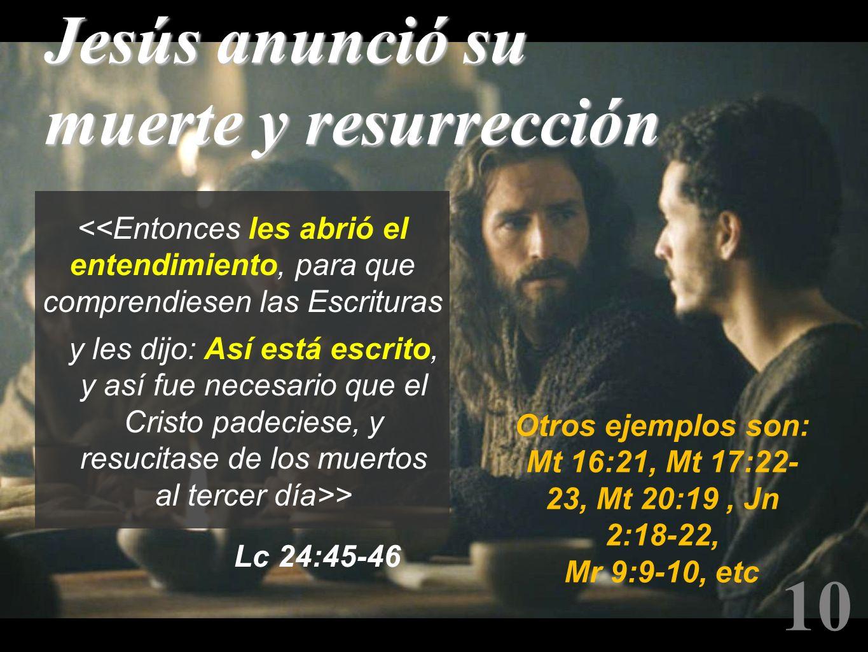 10 Jesús anunció su muerte y resurrección
