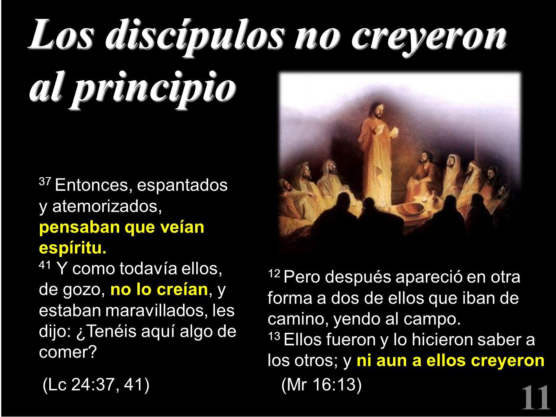 Los discípulos no creyeron al principio
