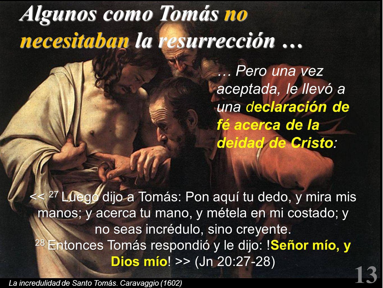La incredulidad de Santo Tomás. Caravaggio (1602)