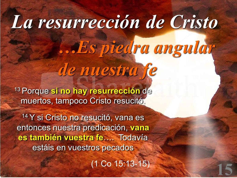 13 Porque si no hay resurrección de muertos, tampoco Cristo resucitó.