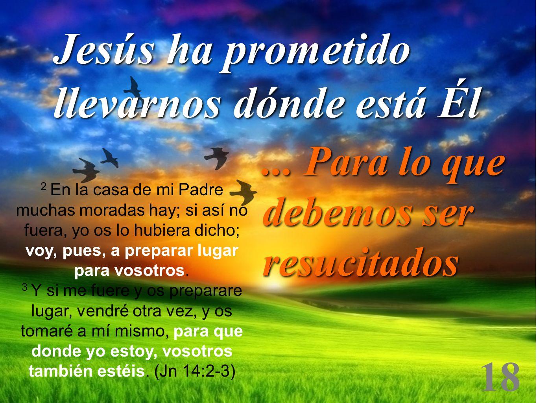 Jesús ha prometido llevarnos dónde está Él