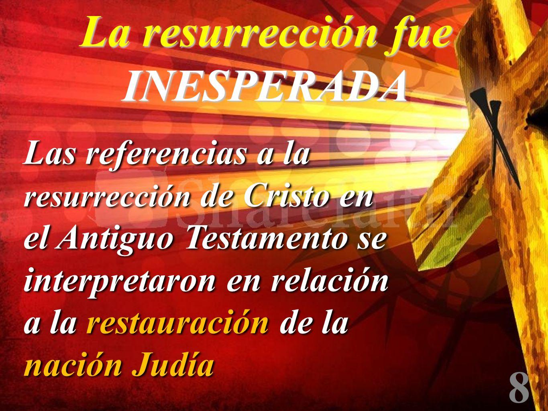 La resurrección fue INESPERADA