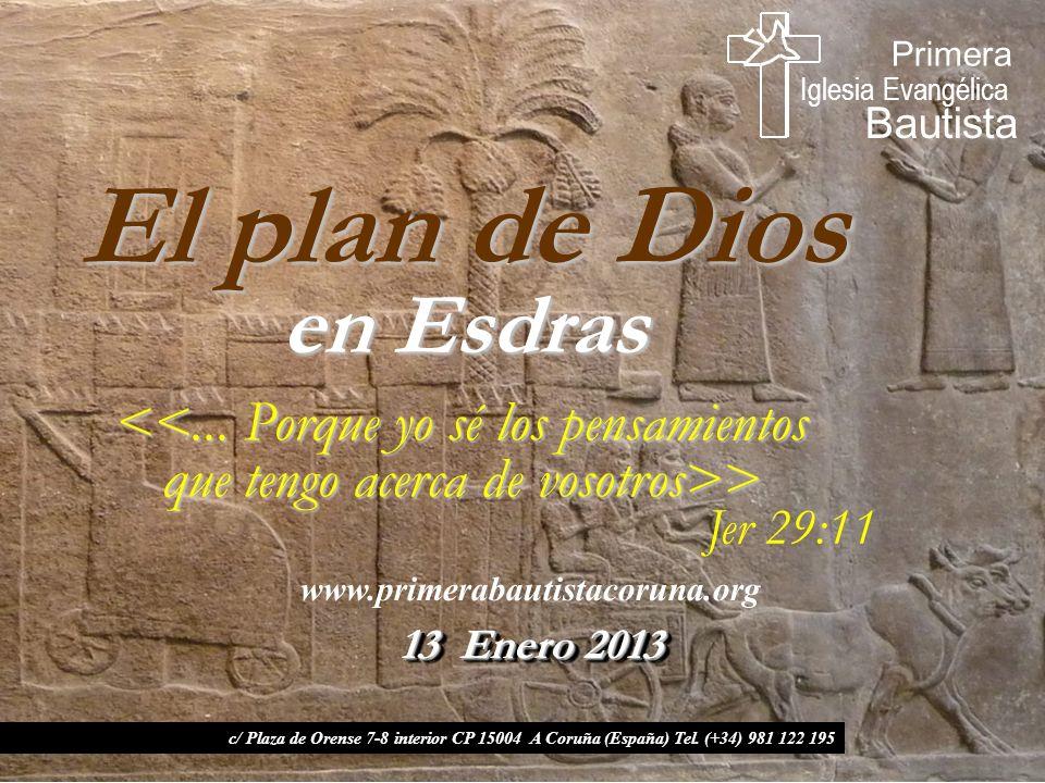 El plan de Dios en Esdras