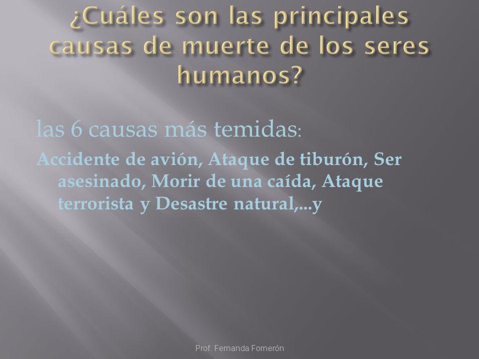 ¿Cuáles son las principales causas de muerte de los seres humanos