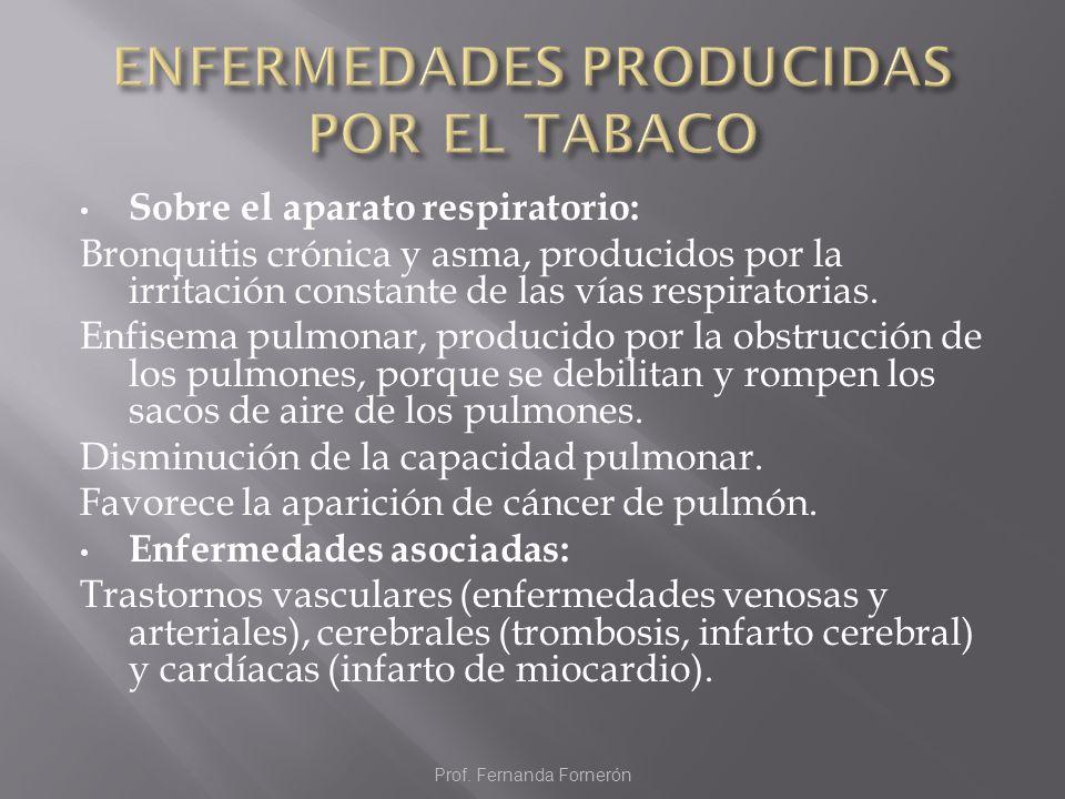 ENFERMEDADES PRODUCIDAS POR EL TABACO
