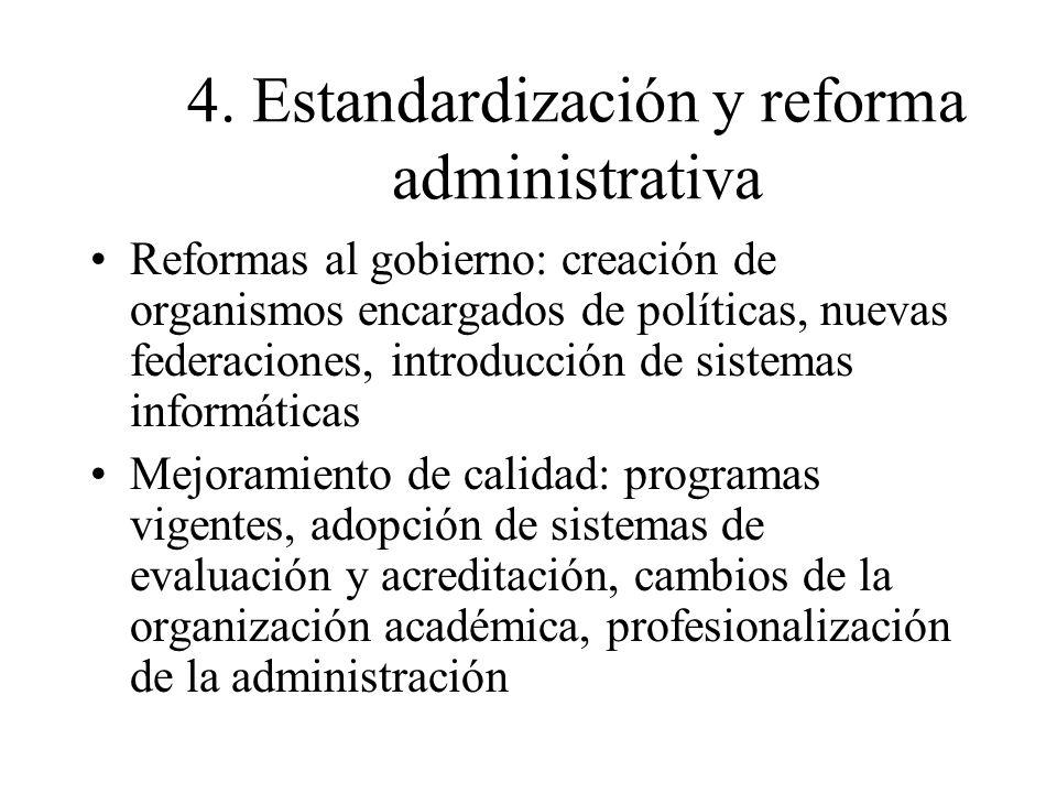 4. Estandardización y reforma administrativa