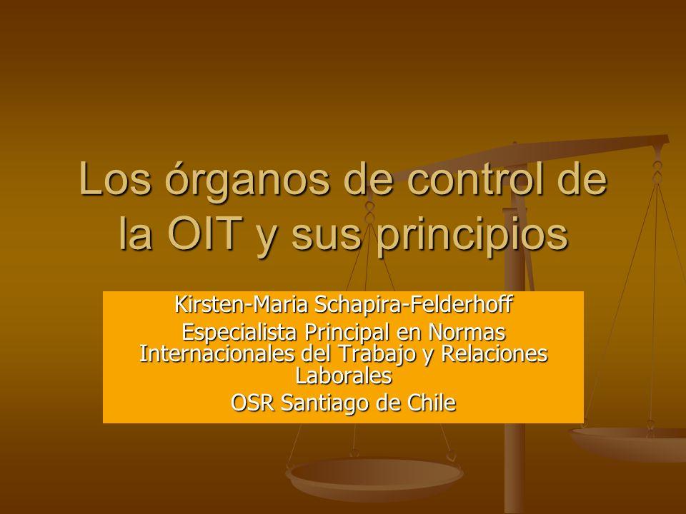 Los órganos de control de la OIT y sus principios